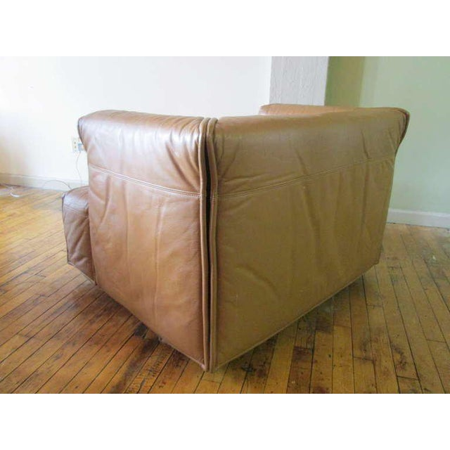 Unique Italian Leather Chair For Sale - Image 4 of 5