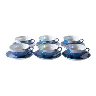 Pearlescent Teacups and Saucers - Set of 6