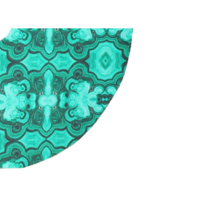 Contemporary Tony Duquette Style Malachite Green Geode Gemstone Christmas Tree Skirt For Sale - Image 3 of 4