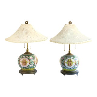 C. 1880 Chinese Ginger Jar Lamps, a Pair For Sale