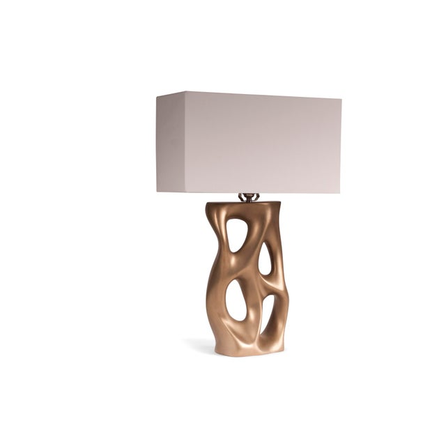 Amorph Loop Table Lamp - Gold For Sale In Los Angeles - Image 6 of 8