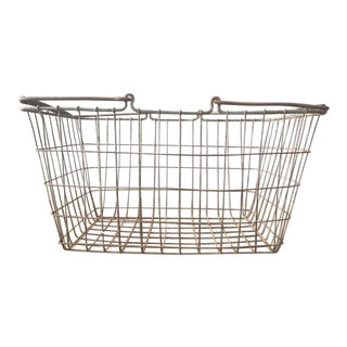 Oversized Rustic Wire Basket