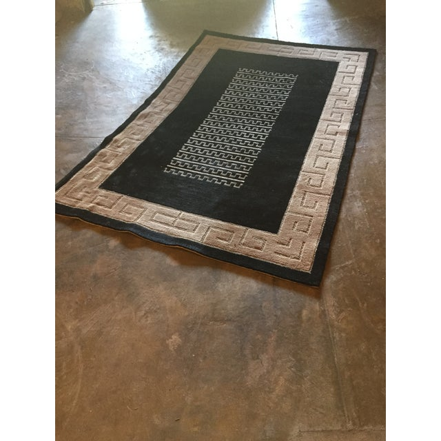 "Black and Natural Contemporary Rug - 4'10"" X 7'10"" - Image 2 of 4"