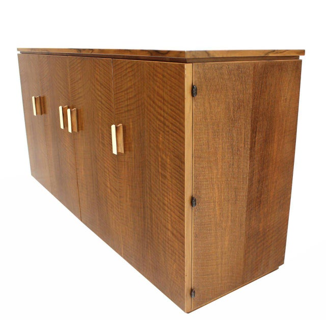 Maple Vintage Mid Century Tiger Maple Sideboard For Sale - Image 7 of 9