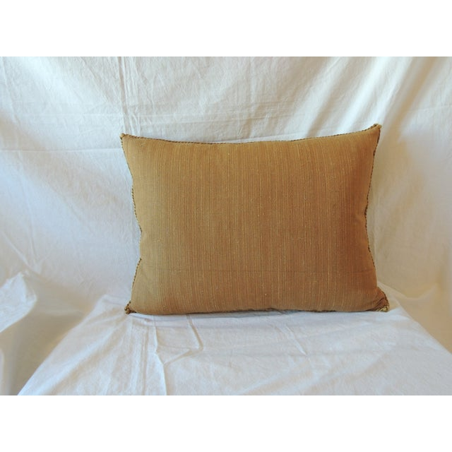 Vintage Brocaded Textile Silk Pillow. - Image 5 of 5