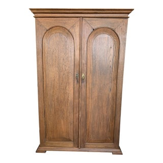 19th Century Gothic Teak Wood Dressing Armoire For Sale