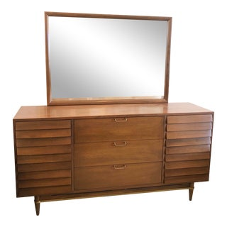 Mid-Century Merton Gershun for American of Martinsville Dresser With Mirror Circa 1960s For Sale