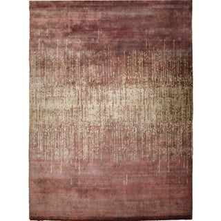 "Contemporary Hand-Knotted Rug - 9'3"" x 12'1"""