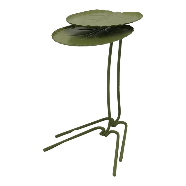 Salterini Green Lily Pad Tables, S/2 - Image 1 of 10