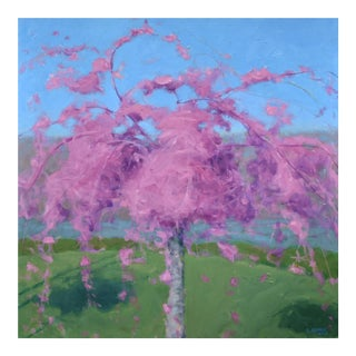 Weeping Cherry Tree Painting by Stephen Remick For Sale