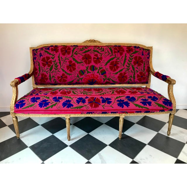 French Boho Settee For Sale - Image 13 of 13