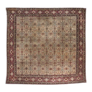 Beige Ground Square Agra Carpet For Sale
