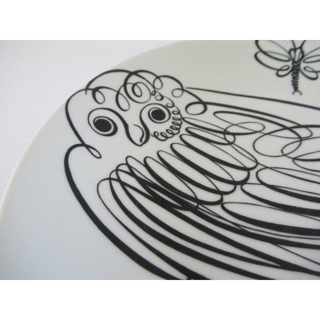 Contemporary Piero Fornasetti Uccelli Calligrafici Bird Plate #6 C.1962 For Sale - Image 3 of 13