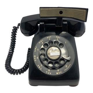 Black 1953 Desk Telephone With Shoulder Rest For Sale