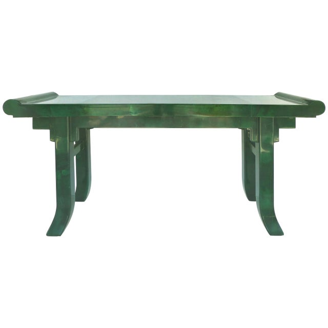 Overscale Goatskin Console Table in an Altar Table Style For Sale - Image 9 of 9