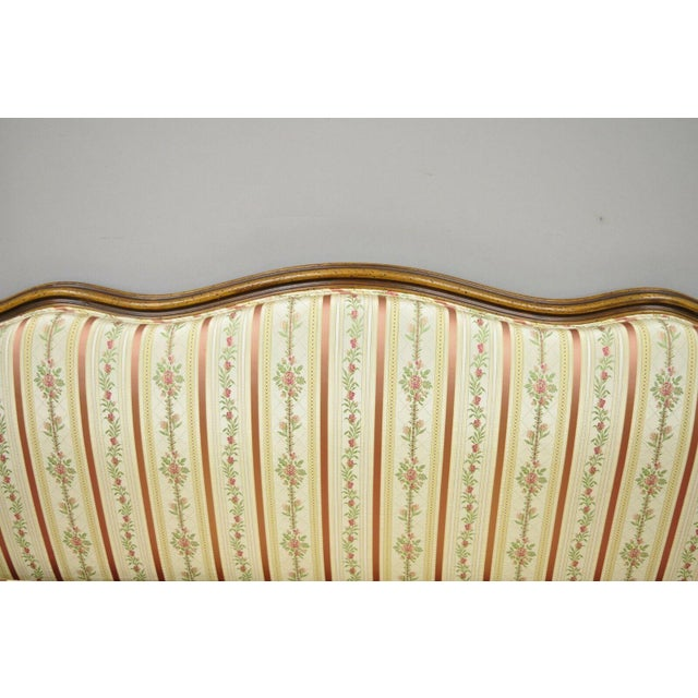 Wood Early 20th C. Vintage French Louis XV Provincial Style Sofa For Sale - Image 7 of 12