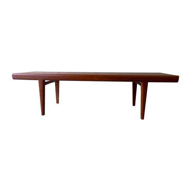 Mid-Century Modern Teak Coffee Table With Cubbies For Sale
