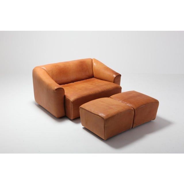 Animal Skin De Sede Ds 47 Cognac Leather Sofa For Sale - Image 7 of 12