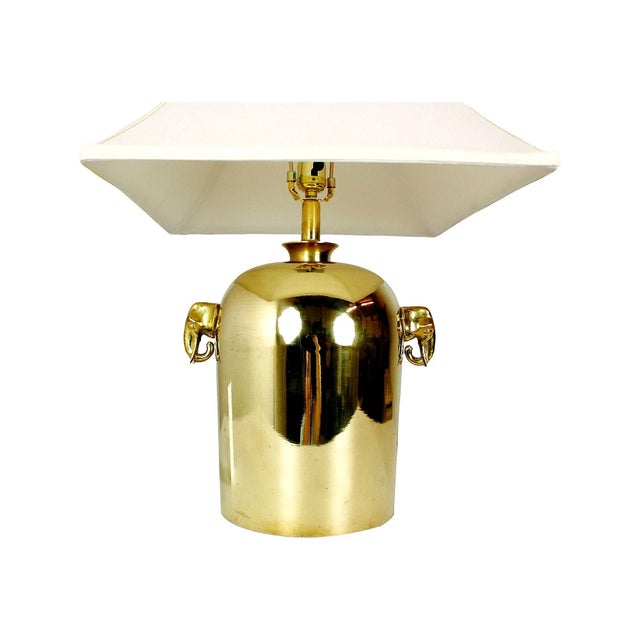 Mid-Century Brass Elephant Table Lamp - Image 3 of 5