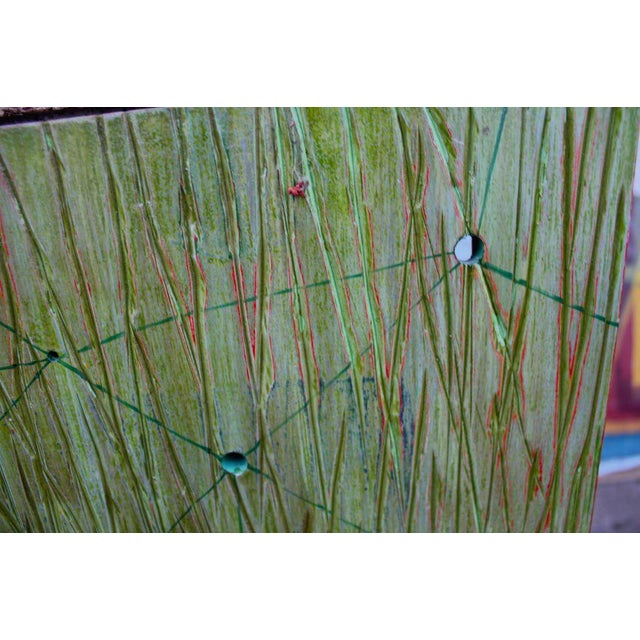 Dawn Arrowsmith Abstract on Wood by Noted Los Angeles Artist Dawn Arrowsmith For Sale - Image 4 of 8