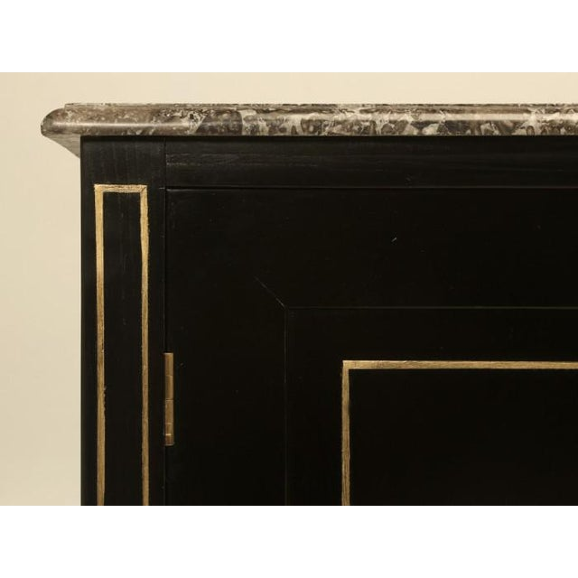 Louis XVI Ebonized Buffets with Marble Tops - a Pair For Sale - Image 12 of 13