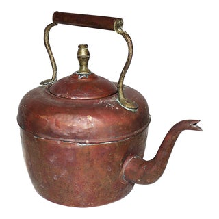 Vintage Antique Copper Tea Kettle For Sale
