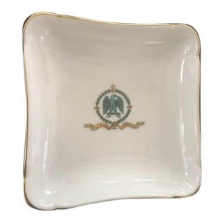 Vintage Hotel Du Palais Biarritz Porcelain Soap Dish For Sale