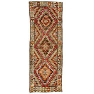 Vintage Oushak Carpet Runner with Modern Tribal Style
