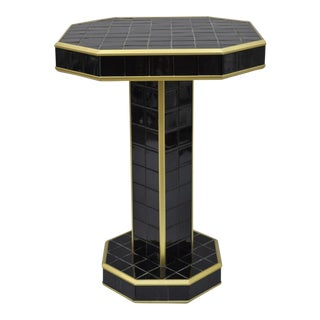 Art Deco Porcelain Bathroom Tile Pedestal Table Stand For Sale