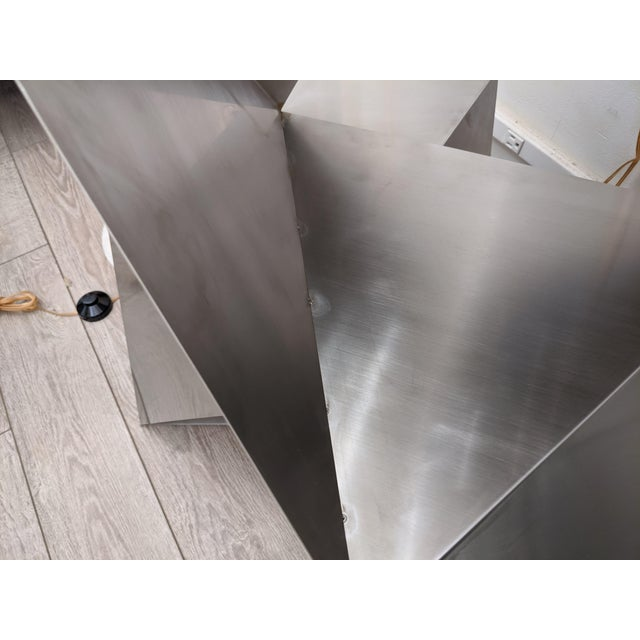 Metal Modular Polyhedron Side Tables by Manfredo Massironi For Sale - Image 7 of 12