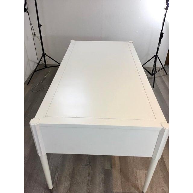 Modern Hickory White Modern White Wood Elliot Writing Desk For Sale - Image 3 of 8