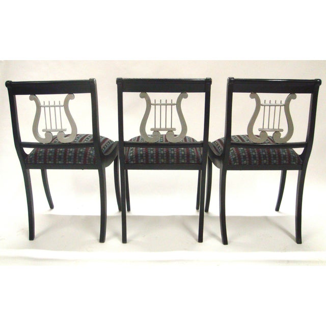 Mid-Century Harp Back Dining Chairs - Set of 3 - Image 3 of 8
