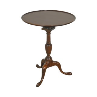 Kittinger Colonial Williamsburg Mahogany Round Tilt Top Table For Sale