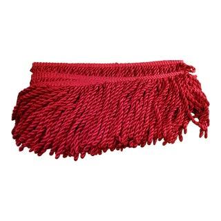 Final Markdown. Red Designer Upholstery Fringe For Sale