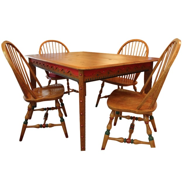 David Marsh Hand-Crafted M&T Dining Set - Image 1 of 6