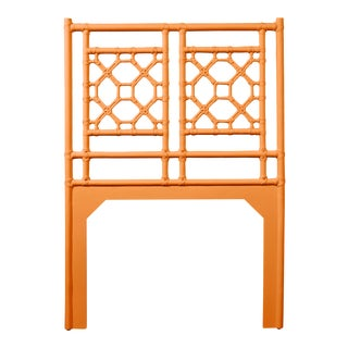 Lattice Back Headboard Twin - Orange For Sale
