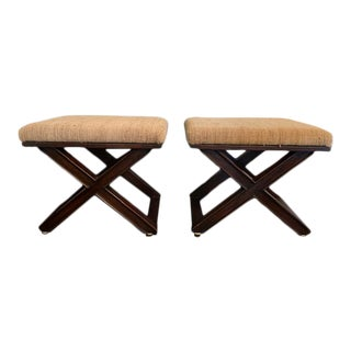 Jean Michel Frank Style Stools - a Pair For Sale