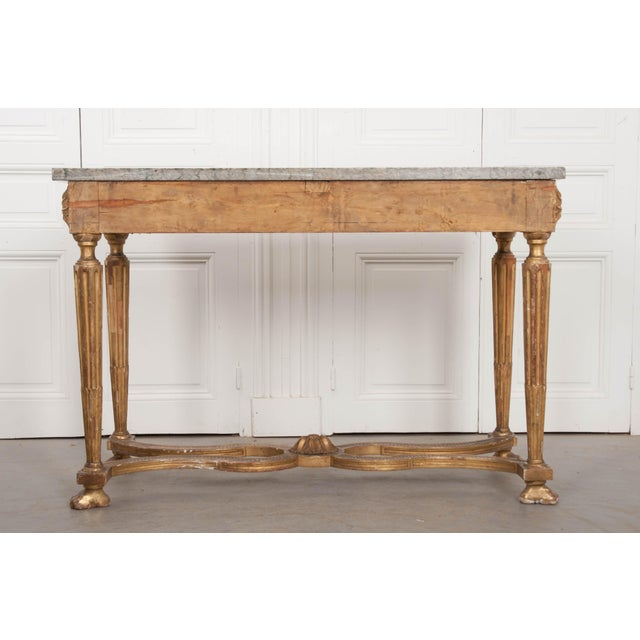 18th Century Period Louis XVI Gold Gilt Console For Sale - Image 9 of 13