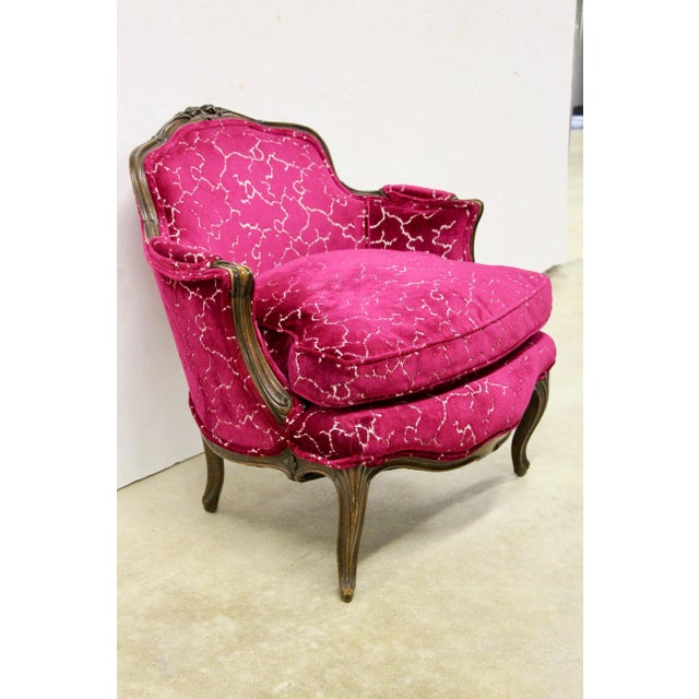 French Petite French Bergere Chair For Sale - Image 3 of 8