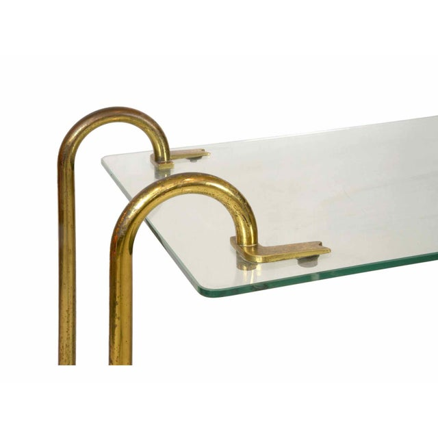 Gio Ponti Gio Ponti - Trolley in Glass and Brass - Circa 1930 For Sale - Image 4 of 5