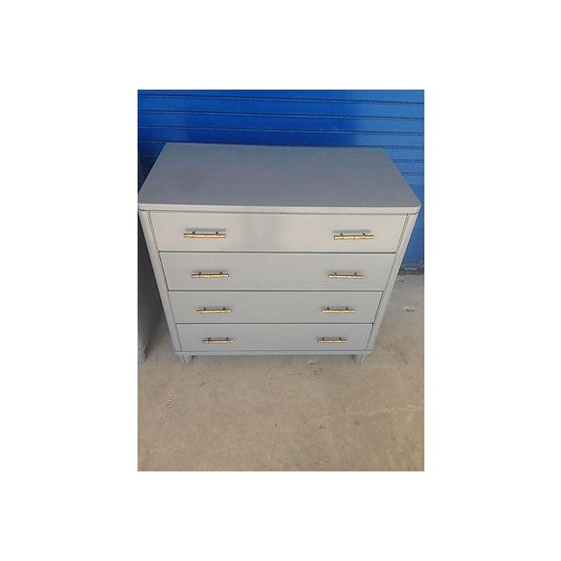 Gray Mid-Century Bachelor Chests - A Pair - Image 4 of 7