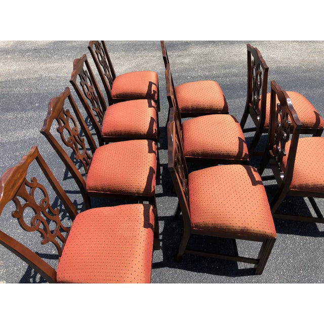 Chippendale Chippendale Style Dining Chairs - Set of 10 For Sale - Image 3 of 13