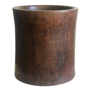 Chinese Hardwood Brush Pot, 19th Century For Sale