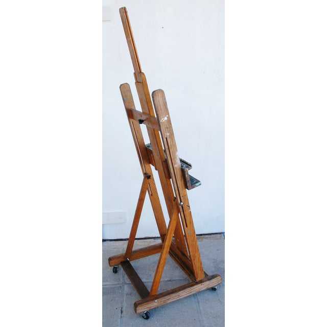 Vintage Adjustable Oak Artist's Easel - Image 10 of 11