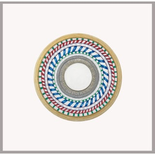 Natasha Mistry Embroidered Circular Oil Painting For Sale