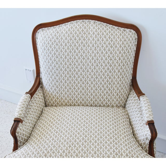 Early 20th Century Vintage French-Style Newly Upholstered Bergere Chairs - Pair For Sale - Image 5 of 13