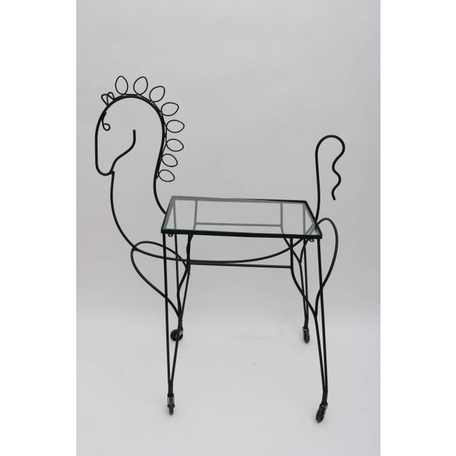 Mid-Century Modern Mid-Century Modern Horse-Form Bar Cart by Frederick Weinberg For Sale - Image 3 of 9