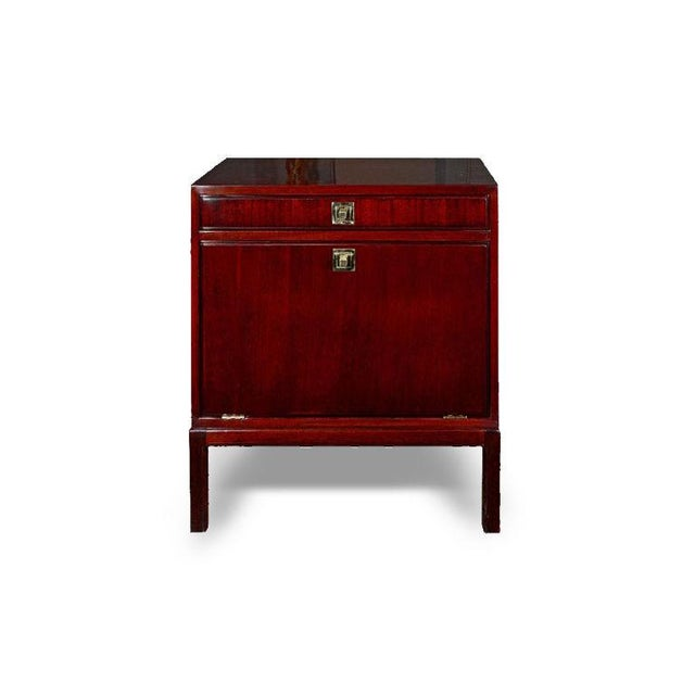 This beautiful cabinet features a single drawer over a flip-down door. The cabinet's brass pulls and hand-rubbed French...
