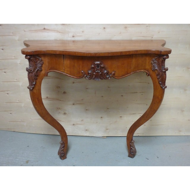 19th Century Rococo Fruitwood Wall Console For Sale In Boston - Image 6 of 6