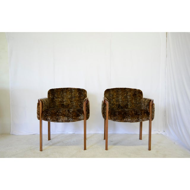 1960s 1960's Faux Fur Side Chairs - A Pair For Sale - Image 5 of 7